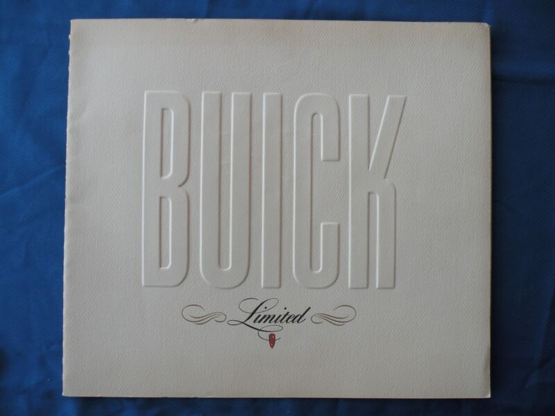 "Original 1940 BUICK LIMITED Brochure Sales Catalog 20 PAGES 16"" X 14"" Large RARE"