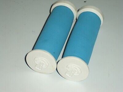 Jive Nuts old school BMX bicycle grip foam donuts BLUE SILVER *MADE IN USA* NOS