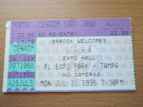1995 LIVE TAMPA CONCERT TICKET STUB THROWING COPPER TOUR LIGHTNING CRASHES