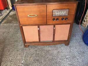 Antique record player! With Records too!