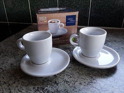 Kahla porcelain for the senses coffe lovers 2 Espresso doppio cups + saucers