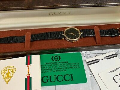 Gucci Quartz Gents'/Unisex Dress Watch c.1987 with box and papers