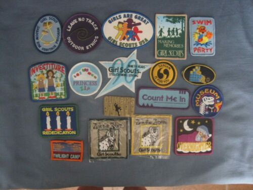 Girl Scout , Group of 18 Girl Scout Patches