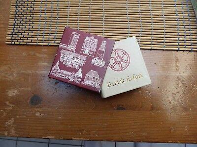 DDR Minibuch in Leder gebunden Erfurt