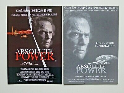 Kit Production Pack (RARE ABSOLUTE POWER 1997 PRODUCTION INFORMATION PACK/PRESS KIT. CLINT EASTWOOD)
