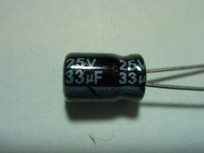 2x 33uf 25v 105c Elko Radial  19-314