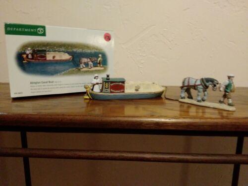 Dept. 56 Dickens Village Abington Canal Boat