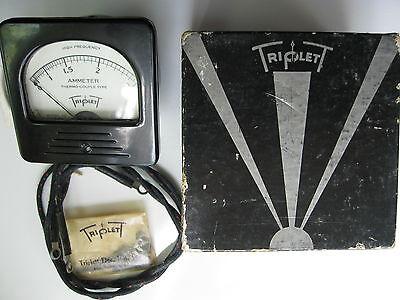 Vintage Triplett Hf Thermo-couple Type 0-2.5 Amp Ammeter Gauge Panel Meter Nos