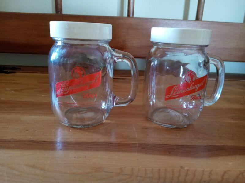 Leinenkugel Beer Salt And Pepper Shakers Glass