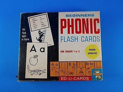 Crayola Beginners Phonic  Flash Cards 1976 In Original Box By Ed U Cards