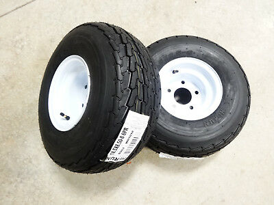 TWO New 18.5X8.50-8 Hi-Run Trailer Tires 6 ply on 5 Hole Wheel 18.5X8.5-8
