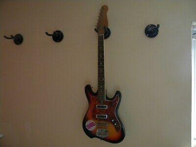 Sunburst electric guitar.