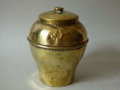 RARE COLLECTABLE LIPTON'S BRASS METAL TEA CADDY SOUVENIR EMPIRE EXHIBITION 1925