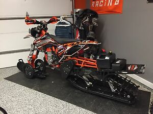 KTM 450 SXF ( 520 big bore ) Timbersled snowbike