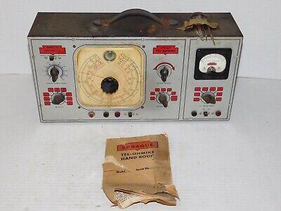 Vtg 1940s Sprague Tel-ohmike Model 16 Vacuum Tube Amp Capacitor Analyzer Tester