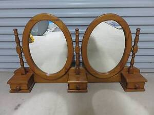 Double oval mirrors and frame with 3 drawers Port Noarlunga Morphett Vale Area Preview