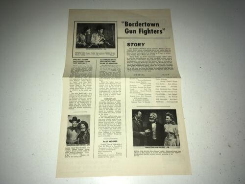 BORDERTOWN GUNFIGHTERS Movie Press Sheet Wild Bill Elliott Western Pressbook 50s