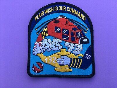 US COAST GUARD GENIE RESCUE SQUADRON 132 PATCH MEASURES 4 1/2 X 4 (Coast Guard Rescue)