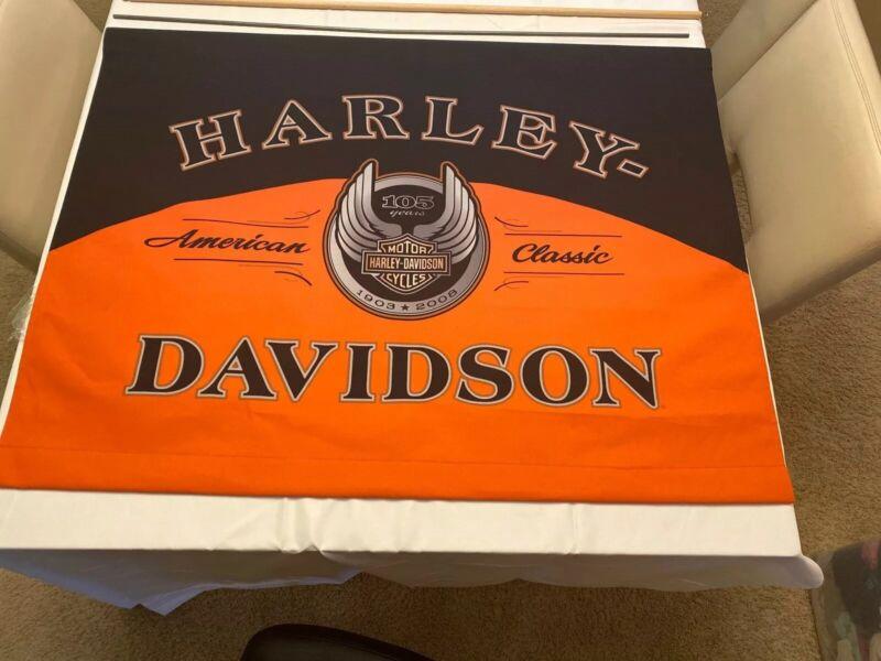 """Very Rare Harley Davidson Dealer Dealership Banner Sign 41 1/2""""X 32"""""""