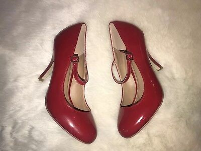 New JOURNEE COLLECTION RED HIGH HEEL MARY JANE Halloween Snow White Devil Sz 8
