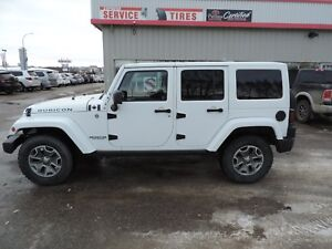 2013 Jeep Wrangler Unlimited Rubicon One Owner, Leather, Blue...