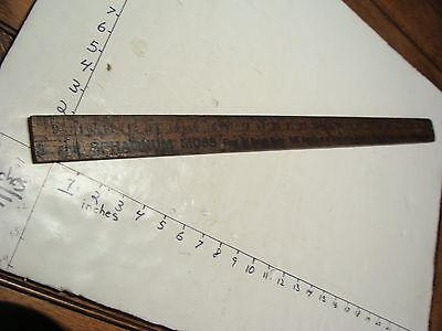 ELLI BUK Collection--Early BROOKLYN NY yard stick BUT CUT