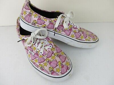 Nintendo Vans Off The Wall Skateboard Shoes Princess Peach. UK 6.5/US 8.5.
