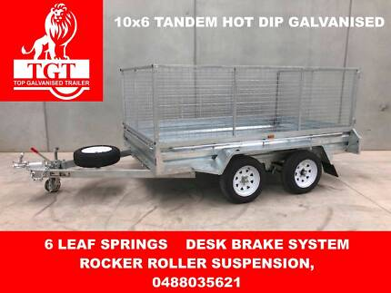10X6 TANDEM HOT DIP GALVANISED TRAILER
