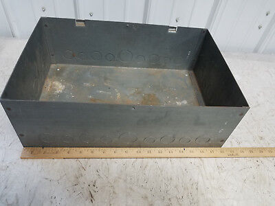 Hoffman Electrical Enclosure Gray Steel Box No Lid 18 X 12 X 6