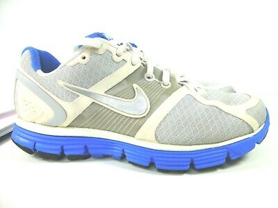 Nike Lunarglide trainers size UK5.5 EUR39 mens running shoes white blue grey