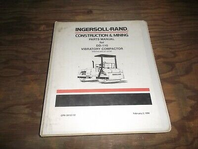 Ingersoll Rand Dd-110 Vibratory Compactor Smooth Drum Roller Part Catalog Manual