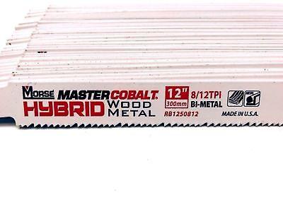 Morse Master Cobalt Hybrid Woodmetal Blade Rb1250812 12 Pack Of 46