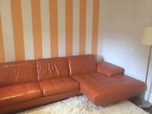 Luxurious Orange Leather Couch- excellent condition! Randwick Eastern Suburbs Preview