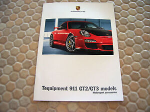 porsche 997 911 gt2 rs gt3 gt3rs gt3 rs 4 0 accessories tequipment brochure 2011 ebay. Black Bedroom Furniture Sets. Home Design Ideas