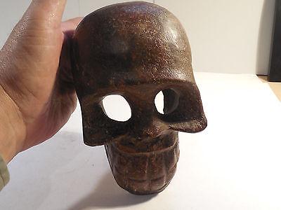 Huge Toltec Stone Skull Wow Pre-Columbian Archaic Ancient Artifact Olmec Mayan
