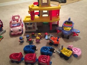 Fisher price car garage and accessories