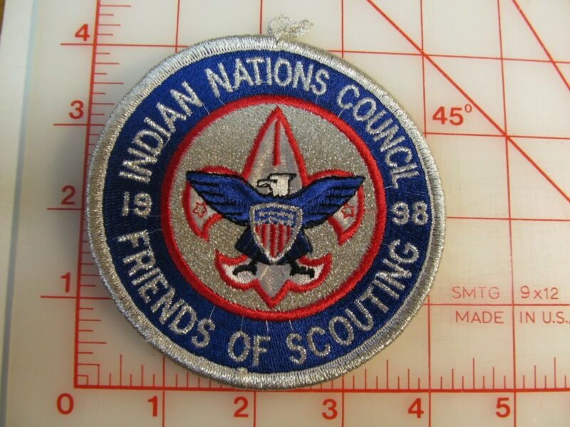 Indian Nations Council collectible 1998 FOS patch FREE SHIP (m5)