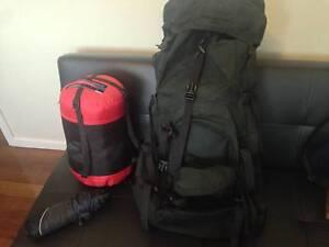 Camping Gear - Rucksack, Sleeping Bag & Silk Sheet Glen Waverley Monash Area Preview