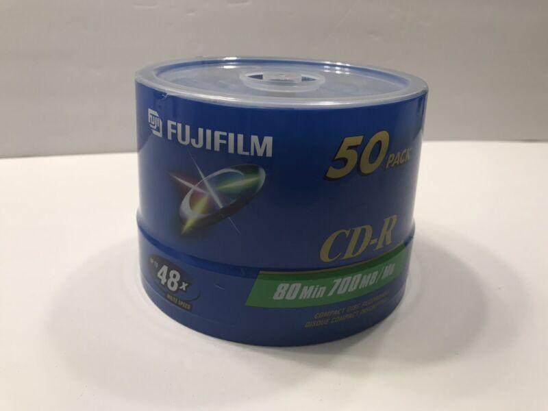 New Fujifilm CD-R 80 Min. 700MB 50-Pack
