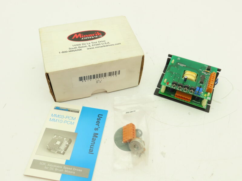 Minarik MM10-115AC-PCM Motor Controller DC Drive 0-90VDC 10A Output / 115VAC In