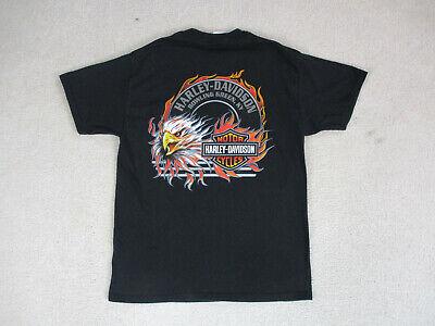 Harley Davidson Shirt Adult Large Black Orange Kentucky Biker Motorcycle Mens