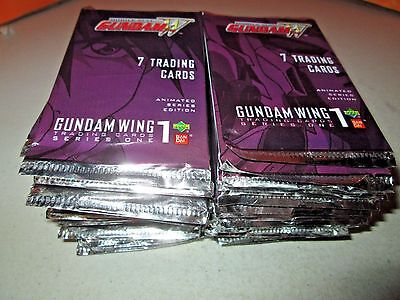 Upper Deck Bandai Gundam Wing Series One Trading Cards Lot of 50 Sealed Packs