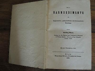 Medizin Fachbuch  Die Harnsedimente, Der Speichel, Die Galle von 1844 EA Rarität