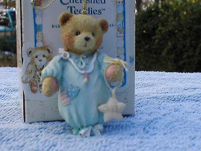 Baby Boy's 1st Christmas~Cherished Teddies~MIB