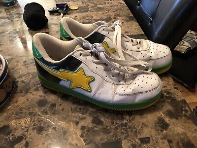 Bathing ape green yellow white and black Size 28/10