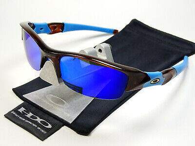 Oakley Flak Jacket Rootbeer Blue Violet Polarized Sonnenbrille Fast Straight Eye