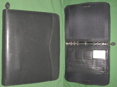 Folio 1.0 Black Leather Day Timer Planner 8.5x11 Monarch Franklin Covey 308