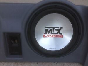 """MTX Thunder 10"""" subs in Jeep enclosure"""