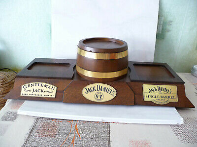 Jack Daniels wooden stand display No 7 Single Barrel Gentleman used rare 450mm for sale  Shipping to United States