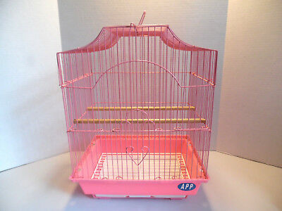 WIRE BIRD CAGE IN PINK PRETTY GARDEN / DECOR